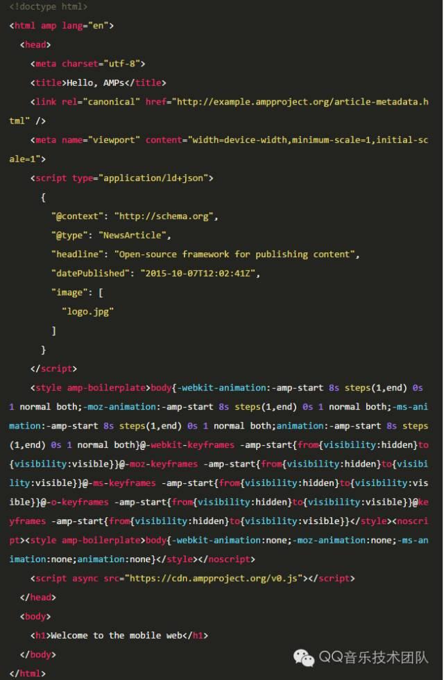 网页加速特技之AMP